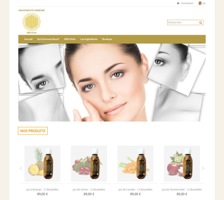 prestashop e-commerce website wellness