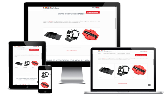 responsive wordpress website manufacturing