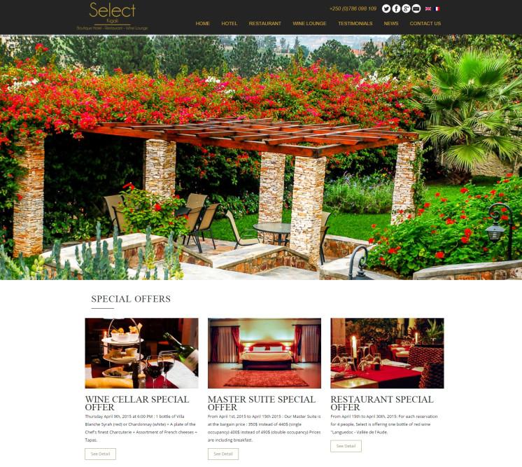 wordpress website creation hotel