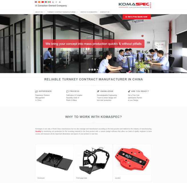wordpress website manufacturing china